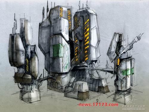 科幻武器原画 科幻机械原画 科幻机械原画图片