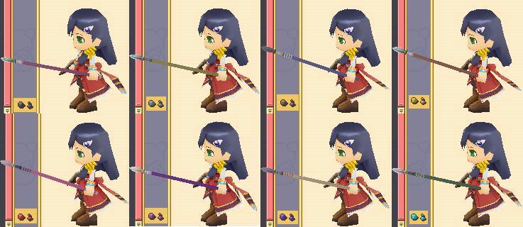 刺枪的配色图例